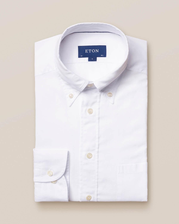 Vit skjorta i lätt flanell