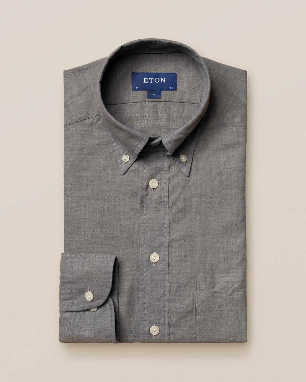 Grå skjorta i lätt flanell