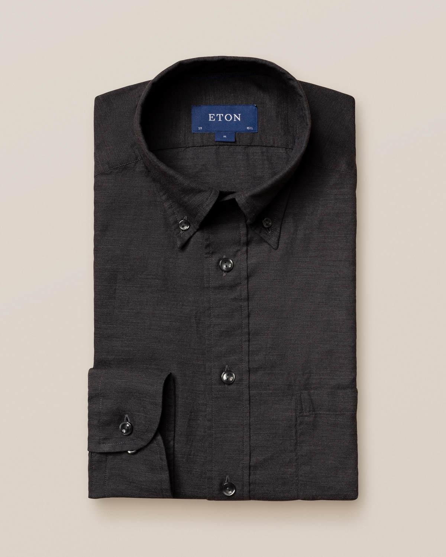 Svart skjorta i lätt flanell