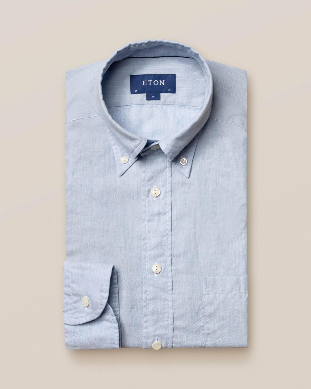 Ljusblå skjorta i lätt flanell