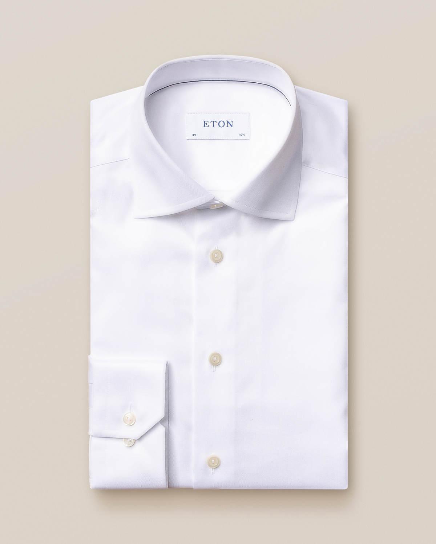Vit Signature Twill-skjorta
