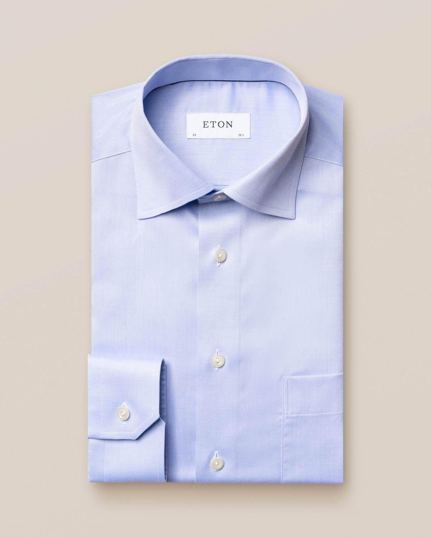 Ljusblå Signature Twill-skjorta
