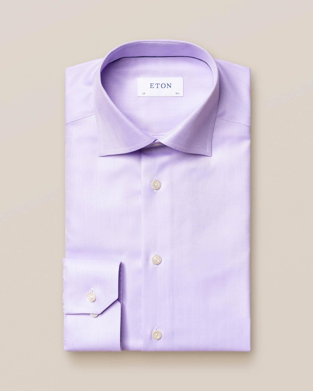 Ljuslila skjorta i Herringbone Twill