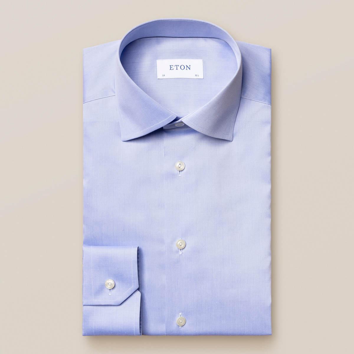 Ljusblå skjorta i Fine Twill