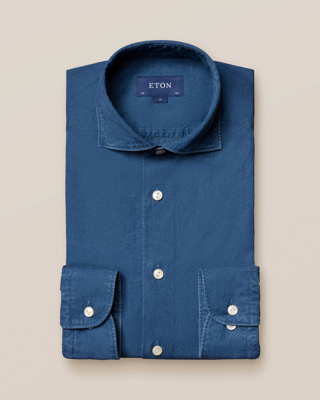 Mellanblå denimskjorta