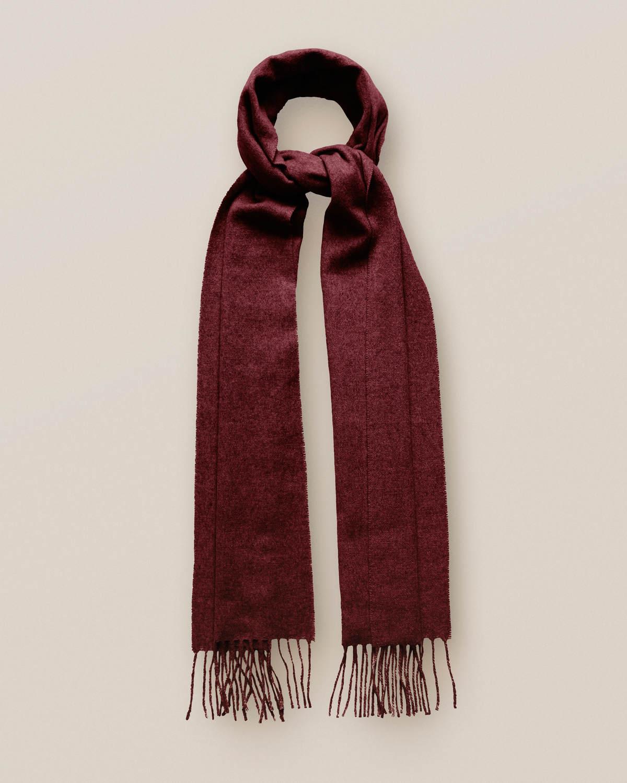 Röd kashmirscarf