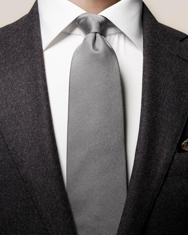 Grå våffelmönstrad slips