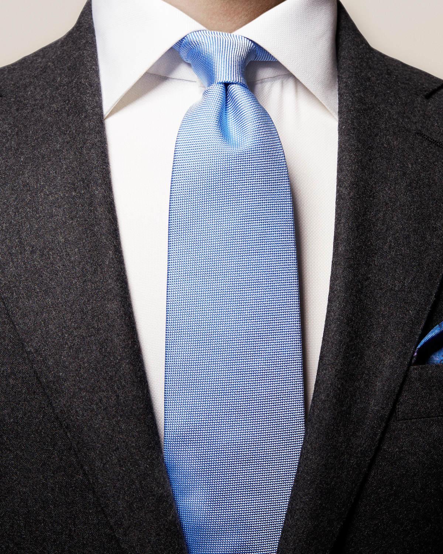 Blå våffelmönstrad slips