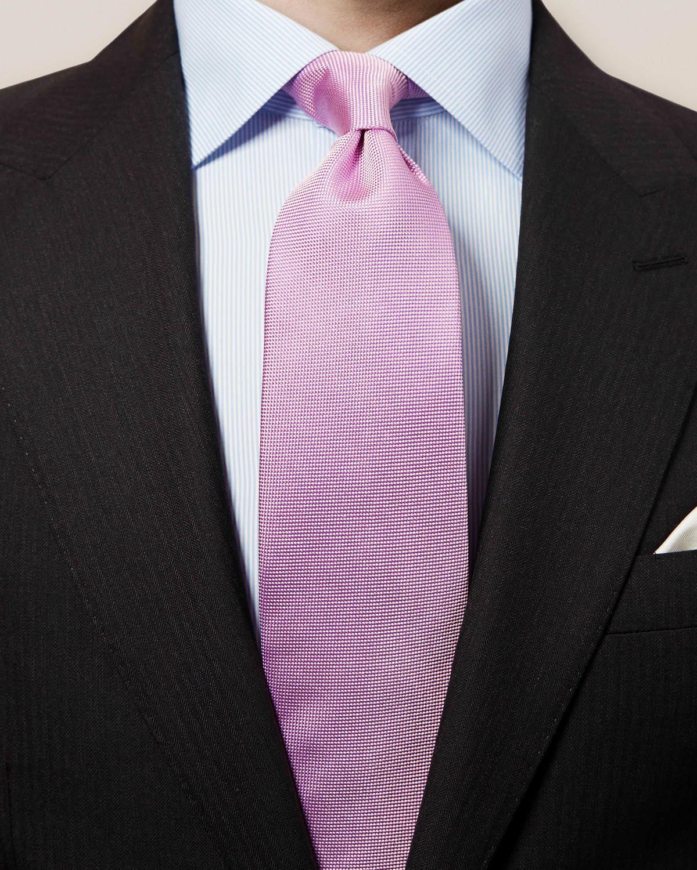 Rosa våffelmönstrad slips