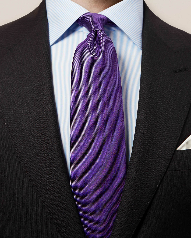Lila våffelmönstrad slips