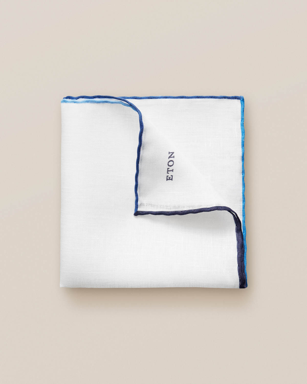 Blå linnenäsduk med gradient
