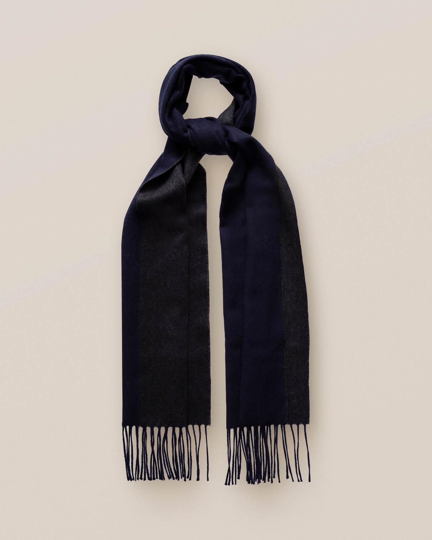 Mörkblå dubbelsidig kashmirscarf