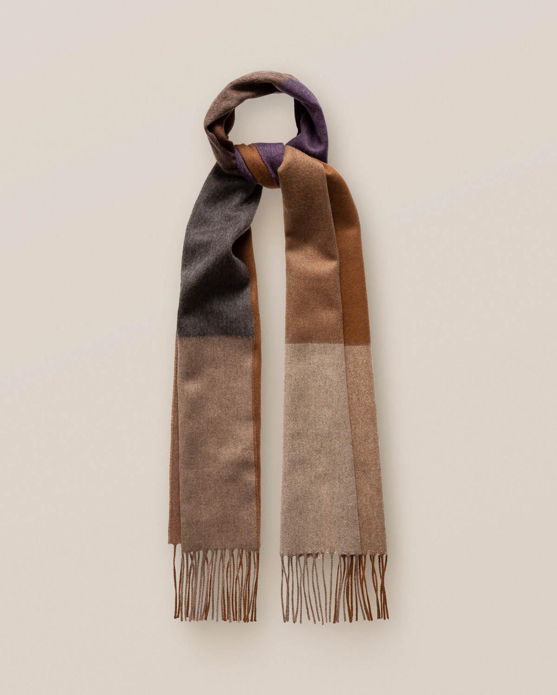 Blå dubbelsidig kashmirscarf