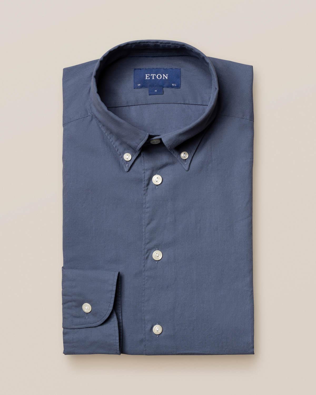 Mellanblå skjorta i lätt flanell
