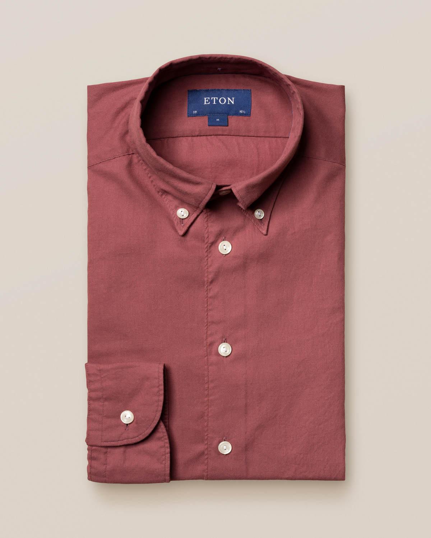 Mörkröd skjorta i lätt flanell