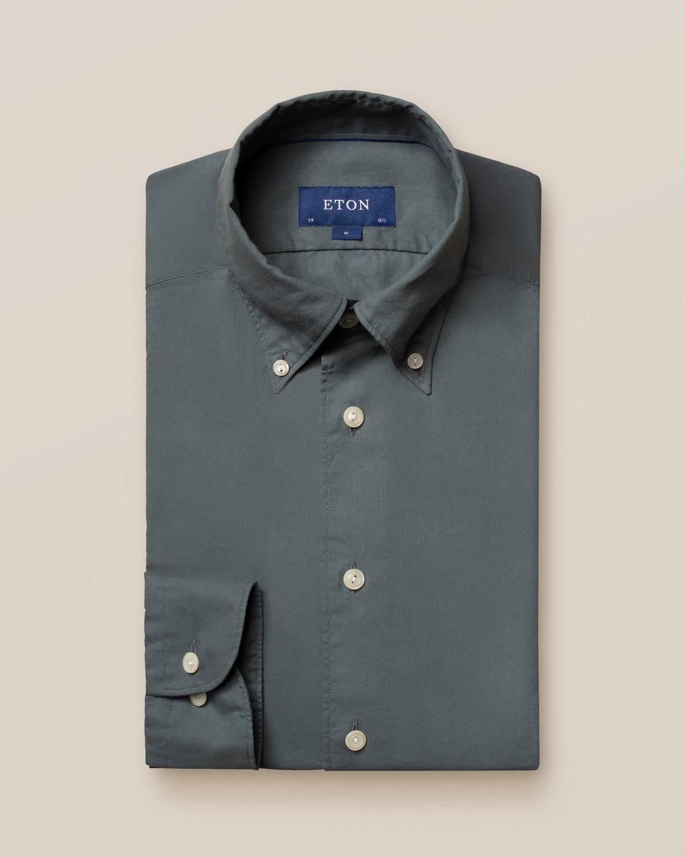 Mörkgrön skjorta i lätt flanell