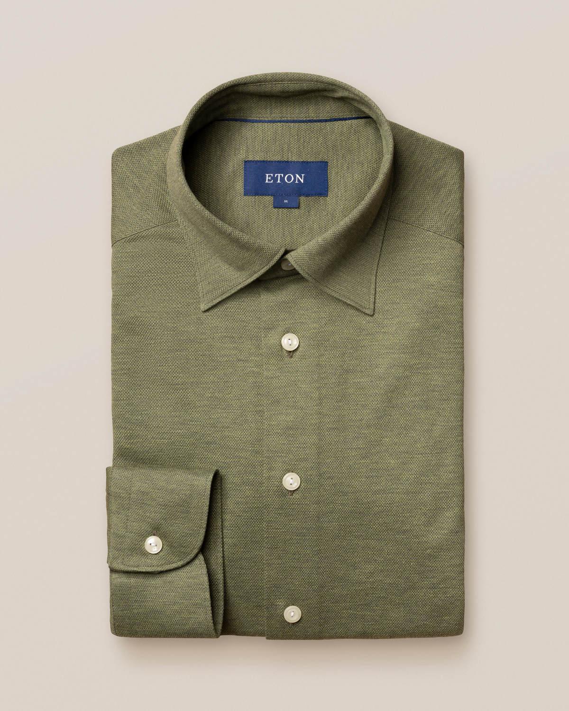 Ljusgrön pikéskjorta – långärmad