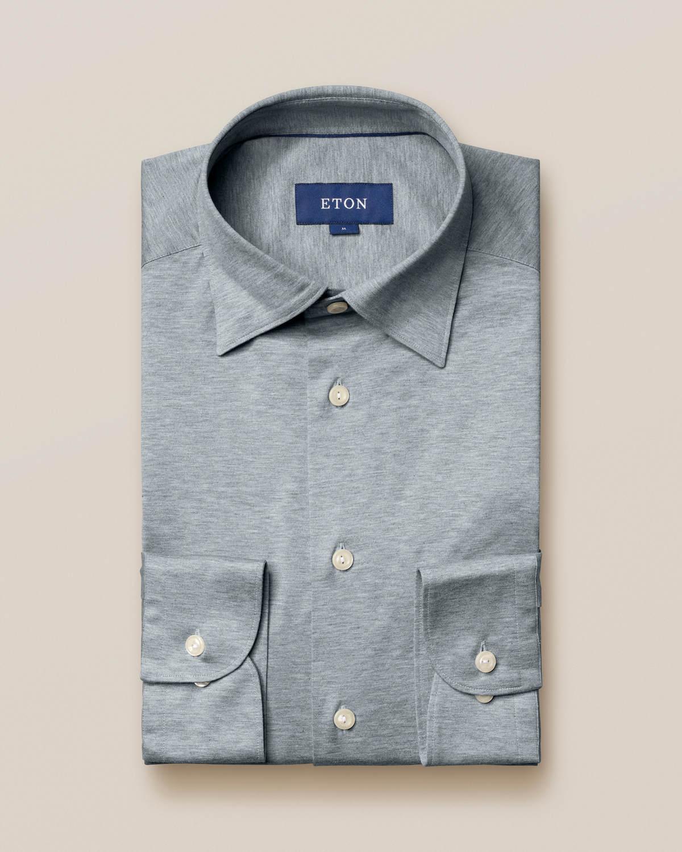 Grå/blå jerseyskjorta