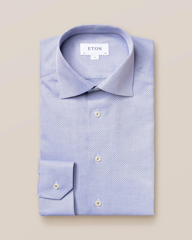 Blå dobbyskjorta med diamanter