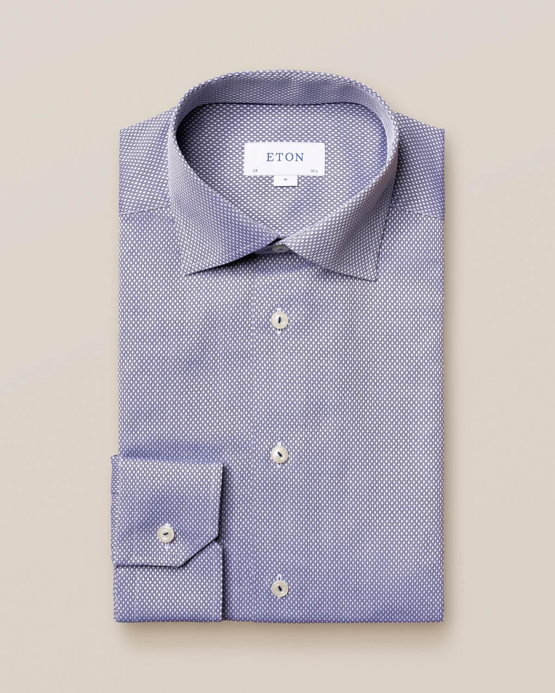 Mörkblå dobbyskjorta med diamanter