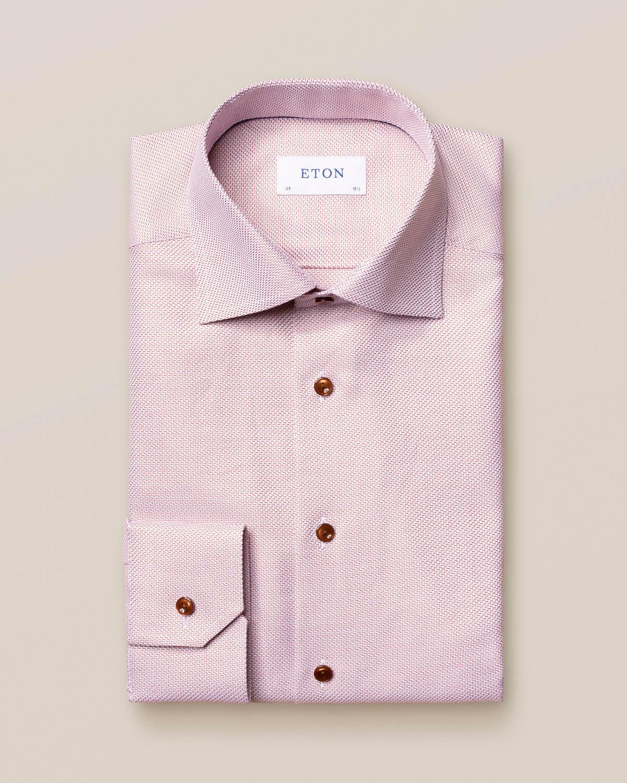Mörkröd King Twill-skjorta med sicksack-mönster