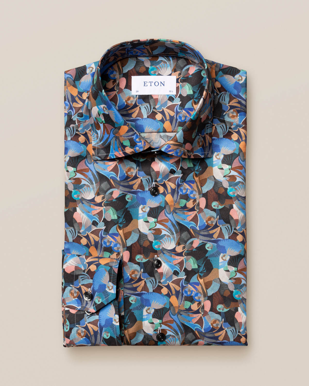 Skjorta med retrofuture-print