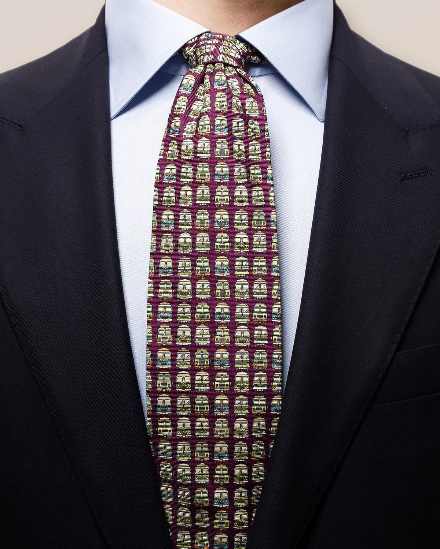 Lila slips med bussar