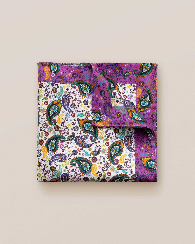 Multifärgad bomullsnäsduk med paisleymönster