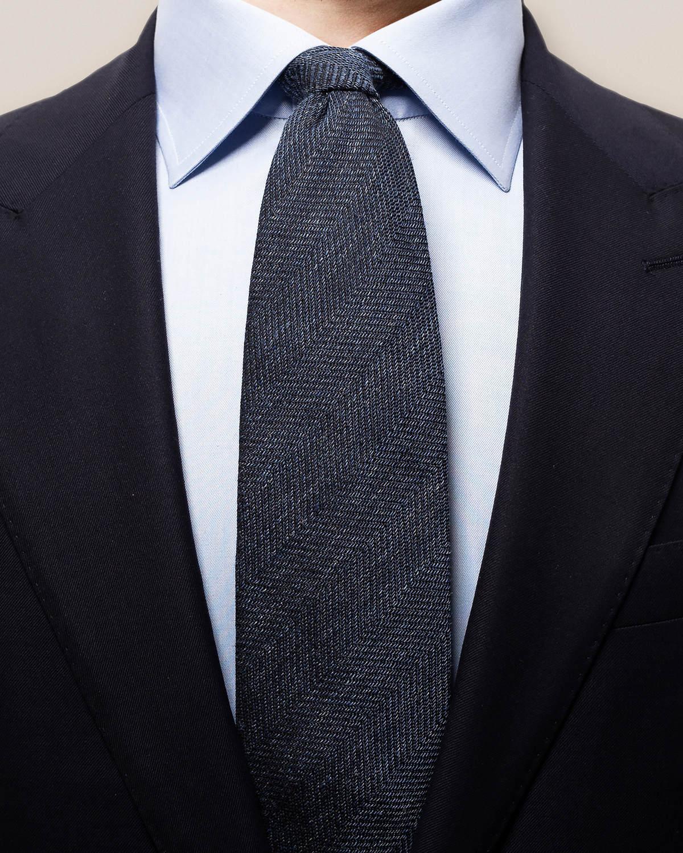 Fiskbensmönstrad slips i blandmaterial