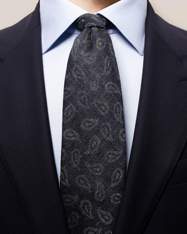 Paisleymönstrad slips i blandmaterial