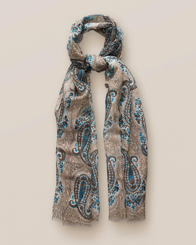 Beige scarf med stort paisleymönster