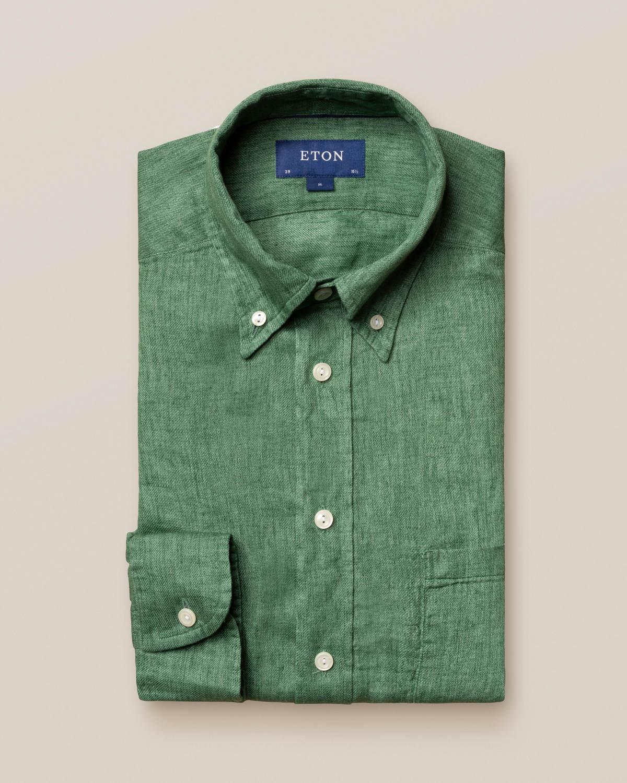 Grön skjorta i finaste linne