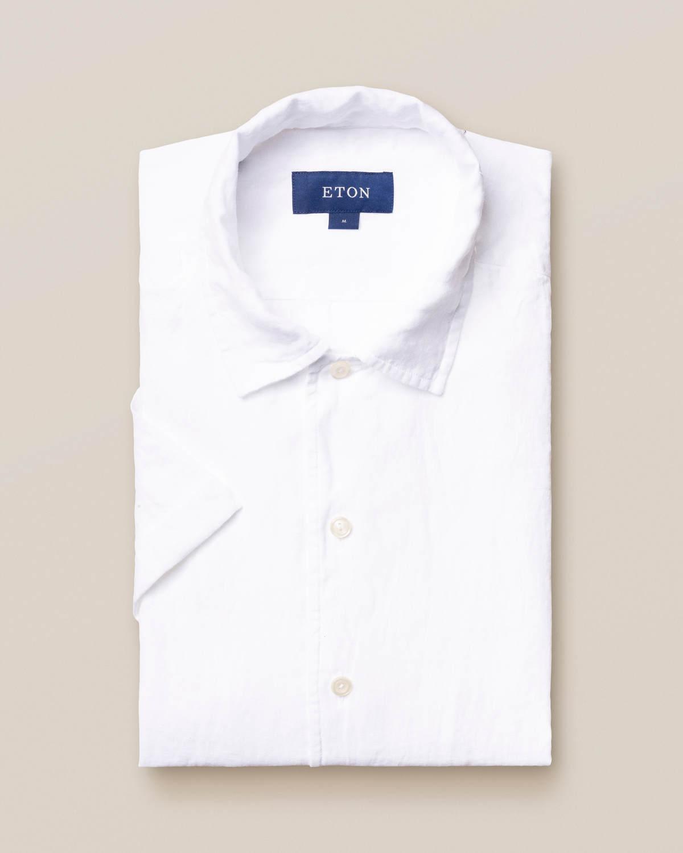 Vit resortskjorta i linne