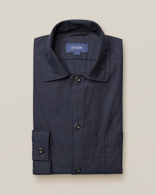 Marinblå överskjorta i treficksmodell