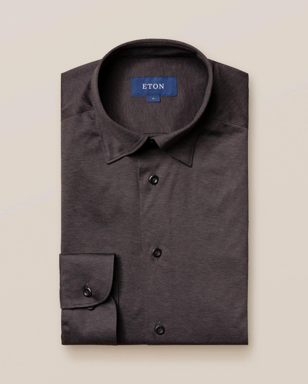 Brungrå jerseyskjorta