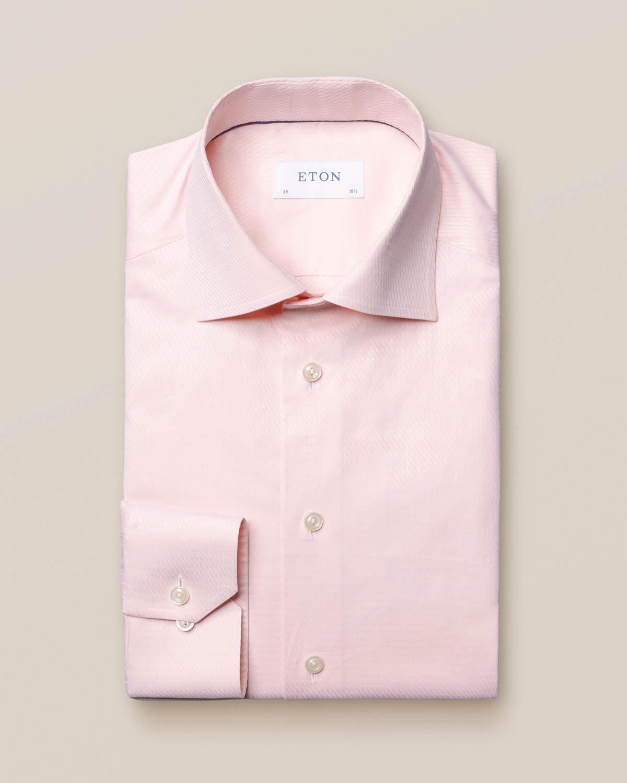 Rosa vävd skjorta med akvarellprint