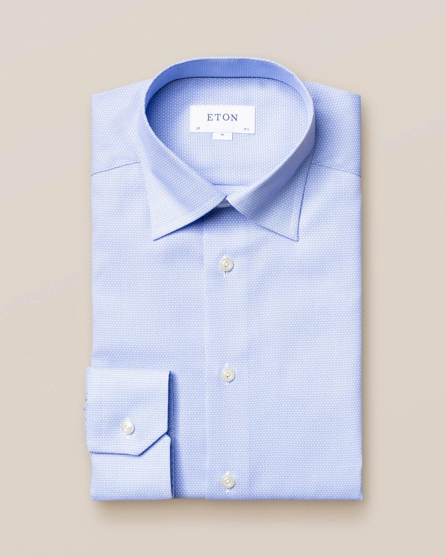 Ljusblå Eton dobbyskjorta