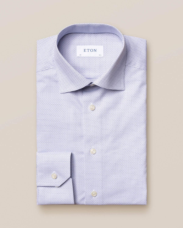 Marinblå rutig skjorta med marinblå detaljer
