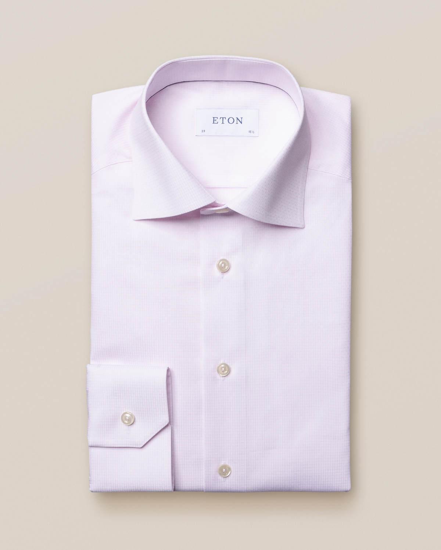 Rosa rutig skjorta med marinblå detaljer