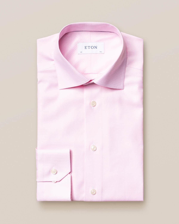 Rosa mikrovävd twillskjorta