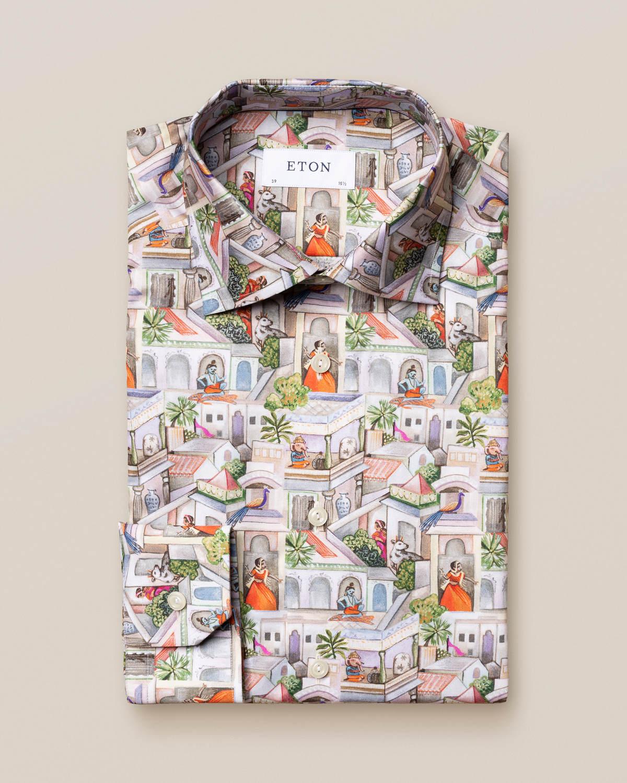 Skjorta med ragamala-mönster