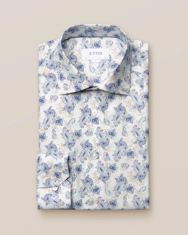 Paisleyskjorta med akvarellfärger