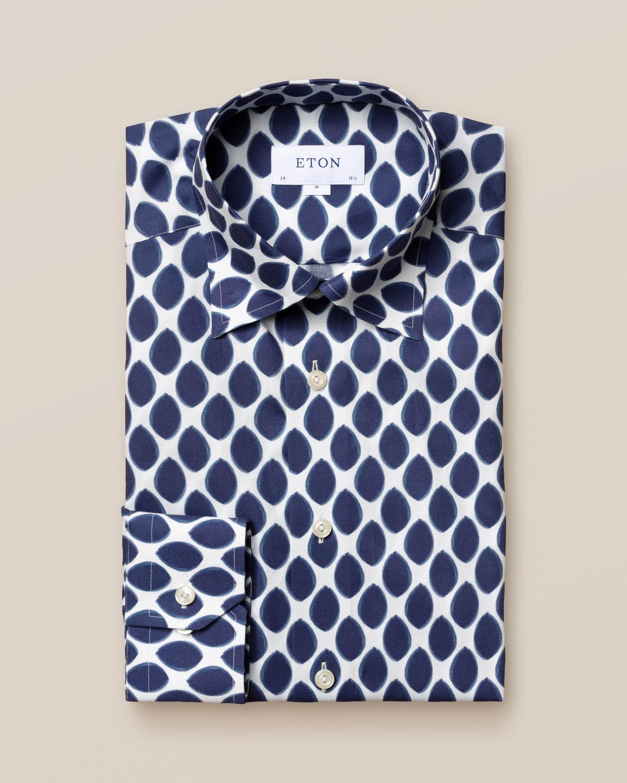 Skjorta i akvarellprickigt mönster