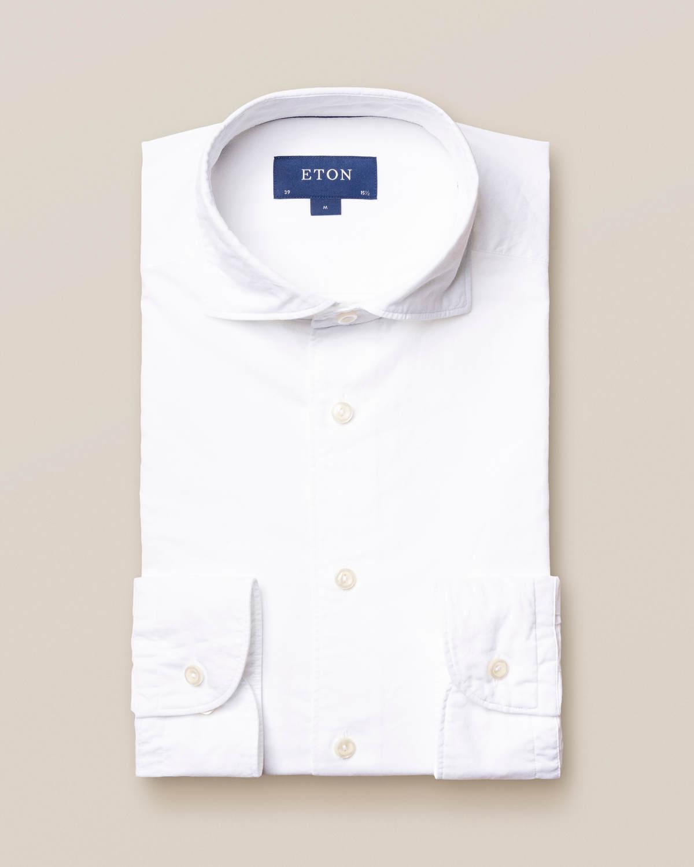 Vit skjorta i bomull och siden – soft