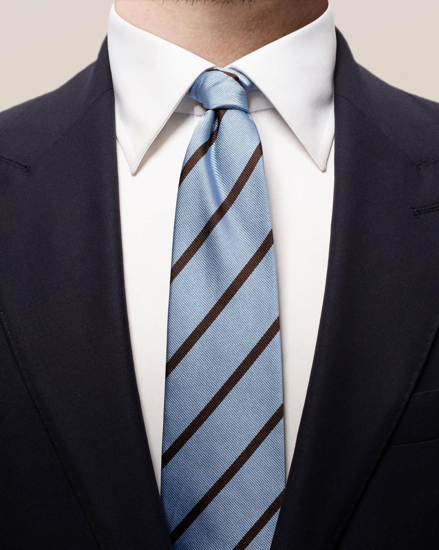 Blå- och brunrandig sidenslips