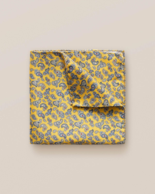 Gul näsduk med litet paisleymönster