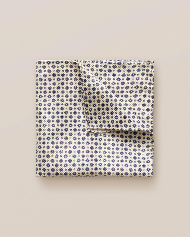 Beige näsduk med geometriskt blommönster