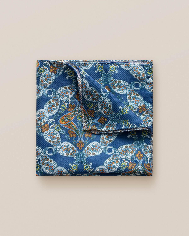 Oceanblå näsduk med paisleymönster