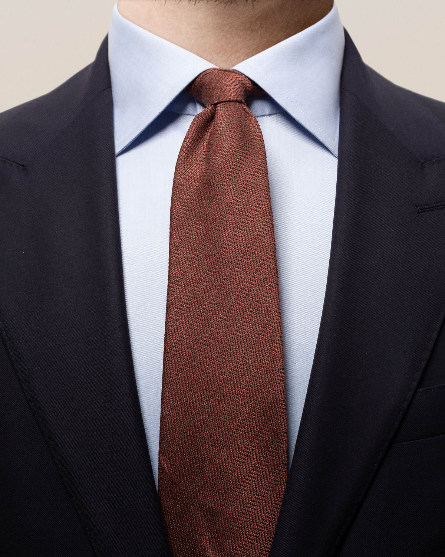 Brun slips i bomull, linne och siden