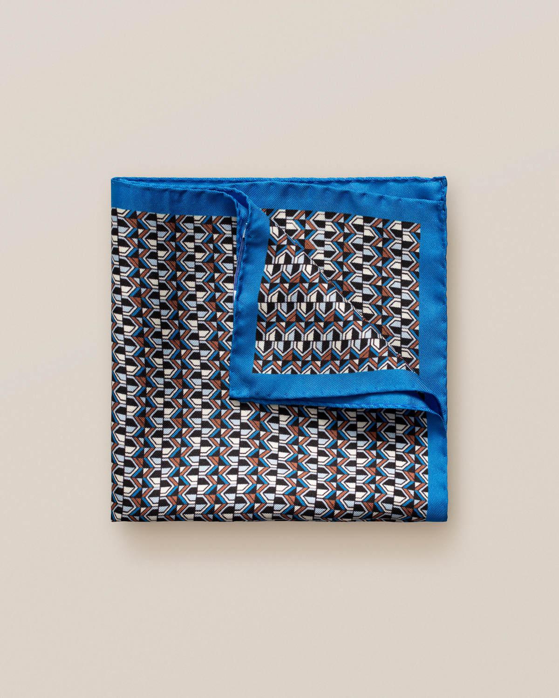 Blå art deco-mönstrad näsduk